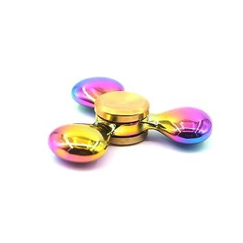 Solomo Tri Spinner Fidget Hand Smooth Surface Metal Toy 360 Degree Rotation EDC ADHD