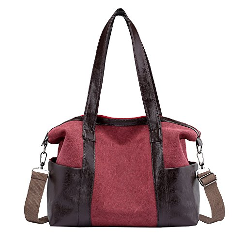 Casual Female Vintage Bags Purple Shoulder Hobos Totes Women Single Canvas wxRqHAp5I