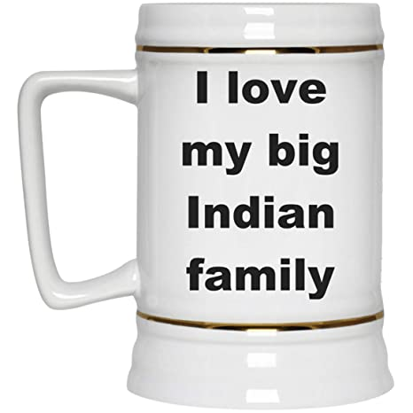 Amazon com | India Beer Stein - I Love My Big Indian Family