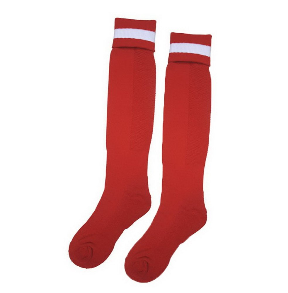 PANDA SUPERSTORE Knee Football//Soccer Sock Mens Elite Sock Red Thick Socks