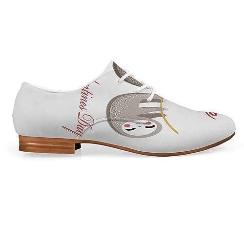 Amazon.com: Zapatos de encaje de piel de los Oxfords de ...