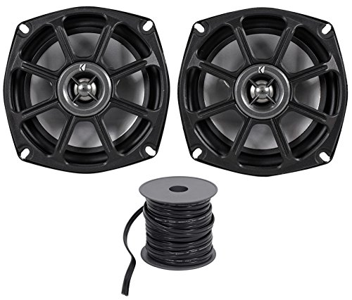Kicker 10PS5250 5.25 Harley Davidson Motorcycle Speakers+Waterproof Wire PS5250 - Kicker Motor
