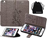 DRUnKQUEEn iPhone 6s Case, iPhone 6 Case, Premium Quality Protective Flip Folio PU Leather Cover Wallet Phone Holder with Foldable Kickstand for Apple iPhone6 / iPhone6s