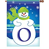 Premier Kites 52015 Winter Monogram House Flag, Letter O, 28-Inch Review