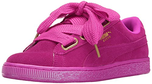 PUMA Women's Suede Heart Satin WN'S Fashion Sneaker, Ultra Magenta-Ultra Magenta, 8 M US (Women Pink Puma Shoes)
