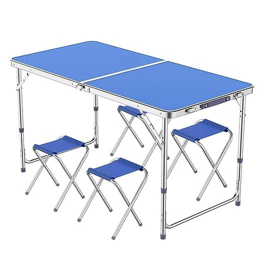 Mesa Plegable de Altura Ajustable, Plegable Patio sillas ...