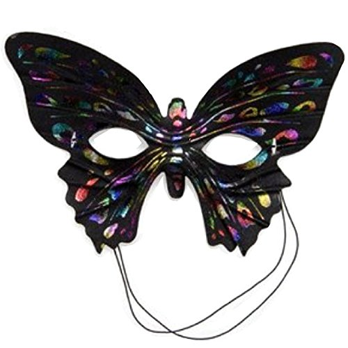 Butterfly Masquerade Ball Half Mask Rainbow (Feathered Masquerade Mask)