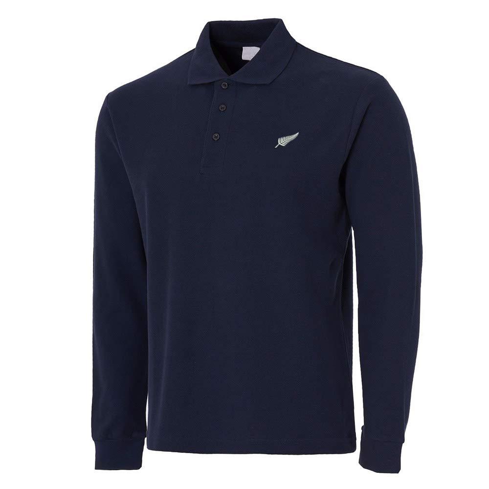 Lexiu Yibai New Zealand Silver Fern Embroidery Long Sleeve Polo Shirts Embroidered Shirts