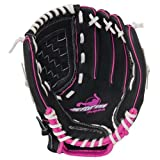 Worth Women's Storm Fast Pitch Softball Glove, Left Hand, 11-Inch, Black