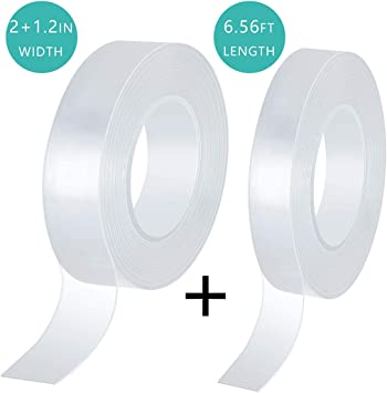 NON-SLIP MAGIC GEL TAPE PAD STRONG GRIP NO-TRACE 1 LONG SHAPE RE-USABLE