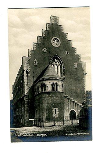 4 Haakonshallen Real Photo Postcards Bergen Norway 1930