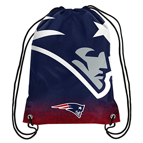 Forever Collectibles NFL Unisex Gradient Drawstring Backpackgradient Drawstring Backpack, New England Patriots, Standard
