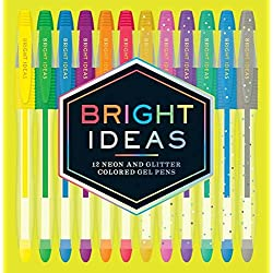 Bright Ideas: 12 Neon and Glitter Colored Gel Pens