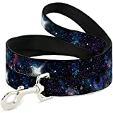 Buckle Down Pet Leash - Galaxy Collage - 6 Feet Long - 1'' Wide