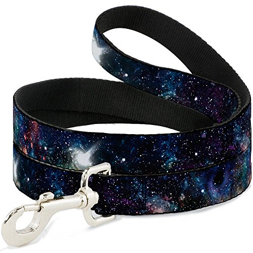 Buckle Down Pet Leash - Galaxy Collage - 6 Feet Long - 1'' Wide by Buckle Down