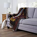 """Harry Potter Gryffindor Shield Woven Tapestry Throw Blanket, 48"""" x"""