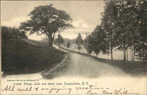 Otsego Lake and Shore Road Cooperstown, New York Original Vintage Postcard ()