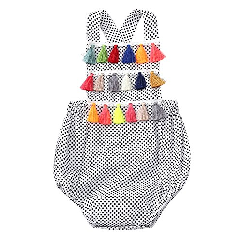 Baby Romper Suits (Weixinbuy Baby Boy's Girl's Sleeveless Polka Dot Backless Romper Bodysuit Clothes)