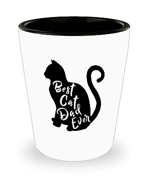 Divertido vaso de chupito con diseño de Papá Noel en el pecho de gato - Hot-Cool vaso de chupito, el mejor regalo para los amantes de los gatos: Amazon.es: ...