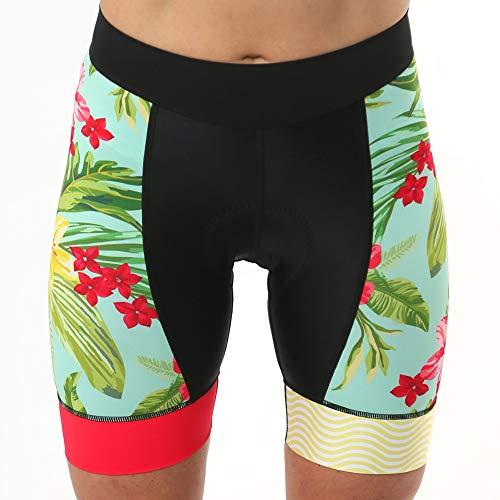 Velorosa Beachcomber Women's Padded Cycling Shorts - Chamois Bike Short - Colorful Print Biking Bottom (XXL) (Beachcomber Bicycle)