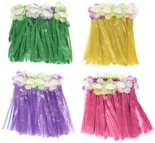 Drink Hula Skirts (asstd colors)    (4/Pkg)