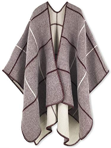Women Poncho Shawl Cardigan Open Front Elegant Cape Wrap