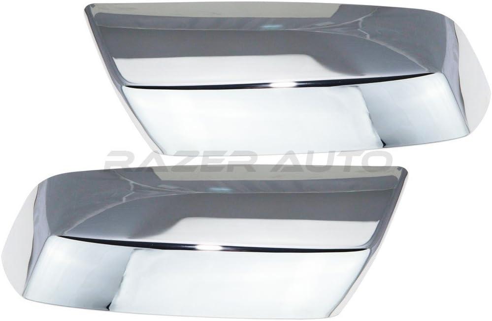 14-15 GMC Sierra 1500 Triple Chrome plated Top Half Mirror+2 Door Handle Cover