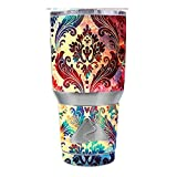 Skin Decal Vinyl Wrap for Ozark Trail 30 oz Tumbler Cup (6-piece kit) / Galaxy Paisley Antique