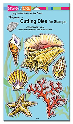 STAMPENDOUS DCS5090 Seashells Die Cut Set