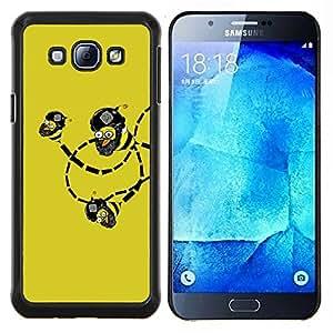 "Be-Star Único Patrón Plástico Duro Fundas Cover Cubre Hard Case Cover Para Samsung Galaxy A8 / SM-A800 ( Divertido Lol Troll Bee bombas Wtf"" )"
