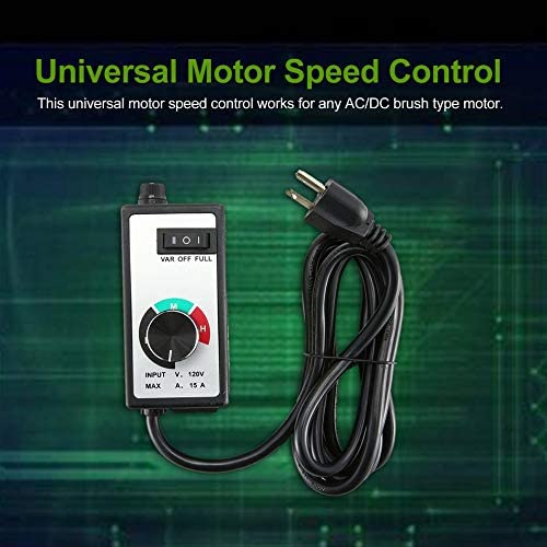 Universal Variable Voltage Router Fan Motor Speed Control Controller 120V 15A
