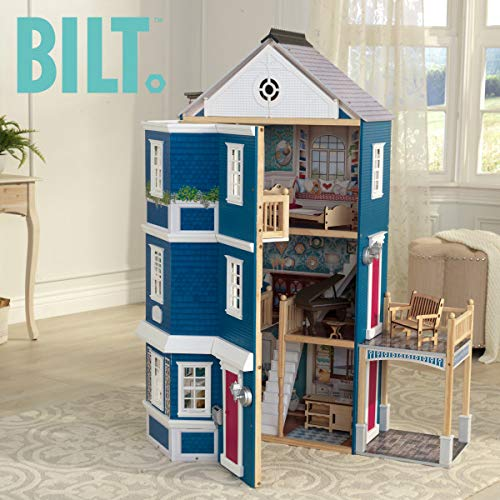 51NTNlTTTCL - KidKraft So Chic Dollhouse with Furniture