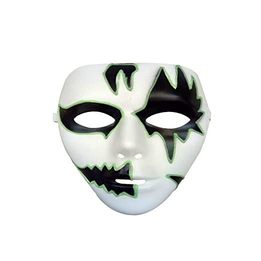 Clearance Skull Full Face Horror Halloween Luminous Mask,Ideal for Christmas Costume Party (A