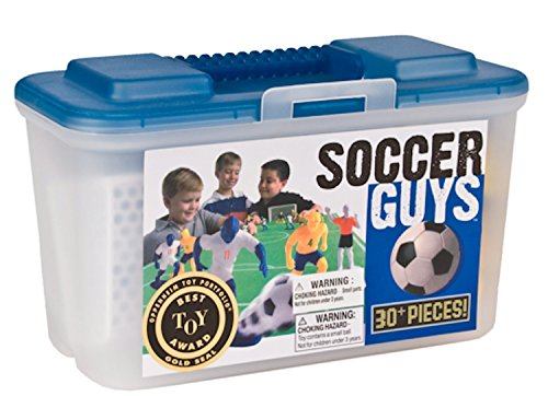 Soccer Boy Figurine - Kaskey Kids Soccer Guys Inspires Imagination with Endless Hours of Creative, Open-Ended Play - Includes 2 Full Teams & Accessories. Fun Way to Teach an Aspiring Soccer Player The Rules. 3+