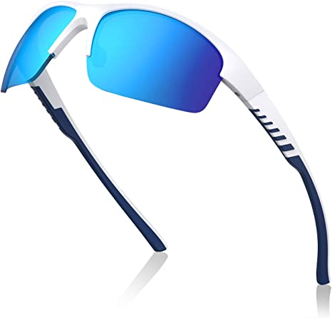 Avoalre Gafas de Sol Polarizadas Deportivas Gafas para Hombre y Mujer TR90 irrompible 100% Anti UVA y UVB, Super Cómodo para Ciclismo Pesca Correr Motocicleta Escalada, Azul: Amazon.es: Deportes y aire libre