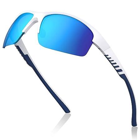 Avoalre Gafas de Sol Polarizadas Deportivas Azul Gafas para Hombre y Mujer TR90 irrompible 100% Anti UVA y UVB, Super Cómodo para Ciclismo Pesca ...
