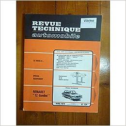 Amazon Fr R12 Gordini Revue Technique Renault Etat Bon