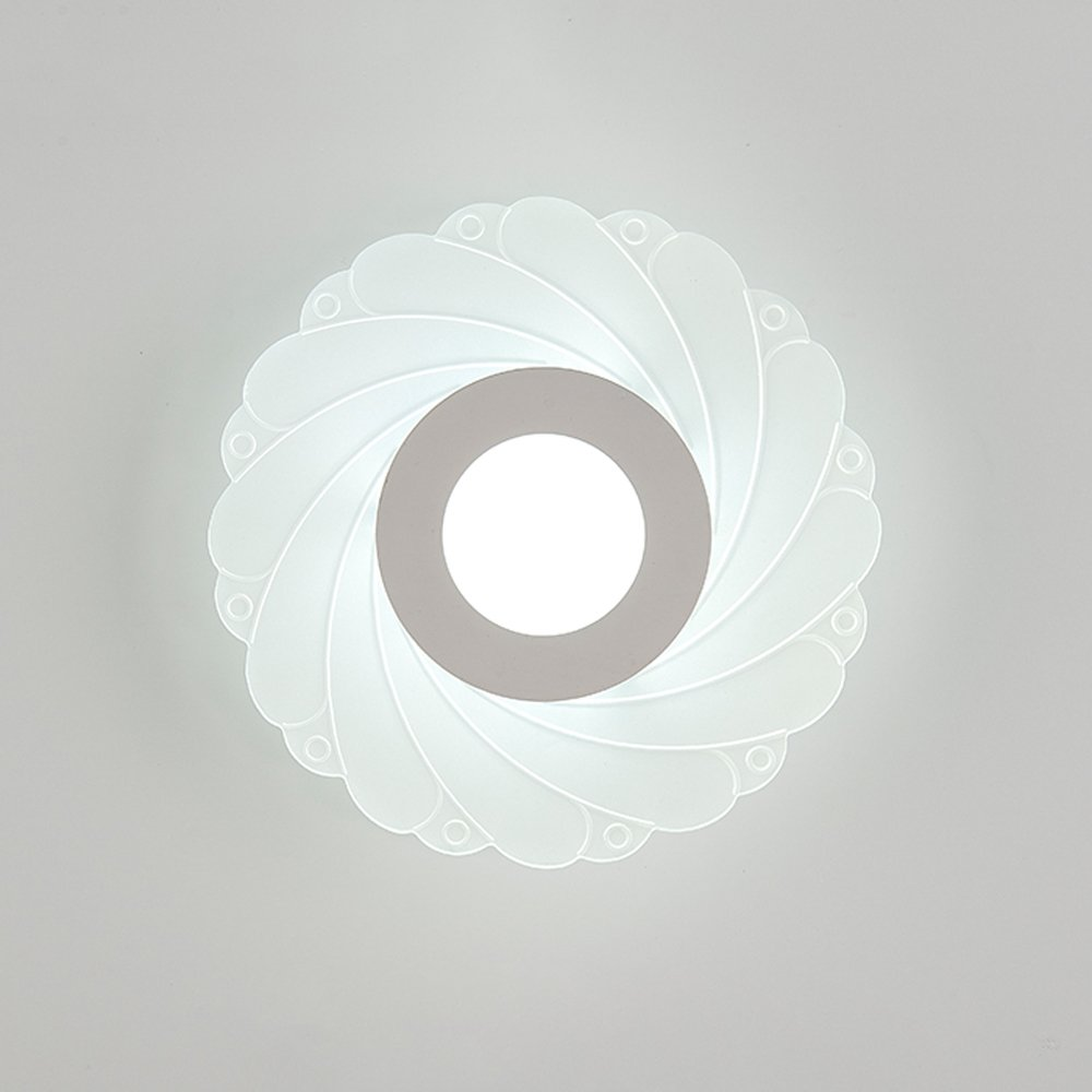 Wall Lamp LED-24W Modern Simple Lighting Fixture Living Room Bedroom Stairs Wall Children's Room Single Head Iron Wall Light