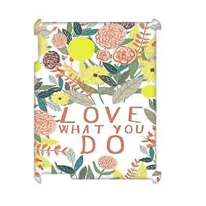 LSQDIY(R) love what you do iPad2,3,4 Custom 3D Case, High-quality iPad2,3,4 3D Case love what you do