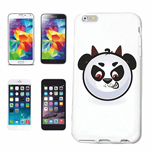 "cas de téléphone iPhone 6 ""PANDA SAD supporter l'idée ""sourire EMOTICON APP de SMILEYS SMILIES ANDROID IPHONE EMOTICONS IOS"" Hard Case Cover Téléphone Covers Smart Cover pour Apple iPhone en blanc"