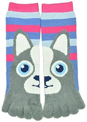 Flirt Girls Animal Soft Tube Finger Toe Socks, Puppy Dog - Childrens Toe Socks