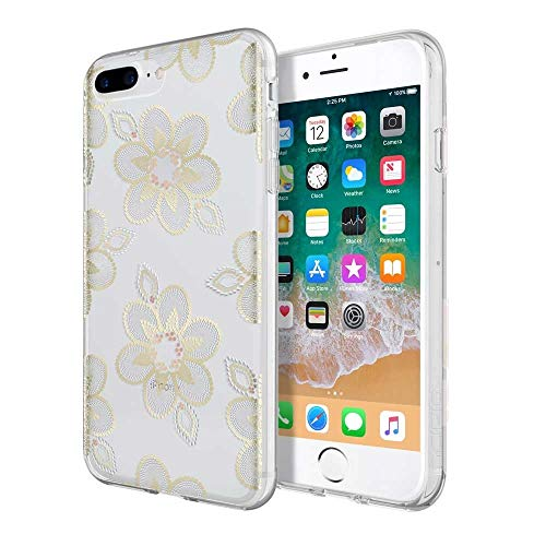 Beaded Cell Phone Case - Incipio Apple iPhone 6 Plus/6S Plus/7 Plus/8 Plus Design Series Case - Beaded Floral