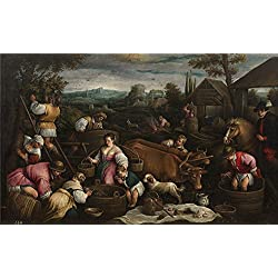 High Quality Polyster Canvas ,the Replica Art DecorativeCanvas Prints Of Oil Painting 'Bassano Francesco Septiembre (Libra) ', 24 X 39 Inch / 61 X 99 Cm Is Best For Home Theater Decoration And Home Artwork And Gifts