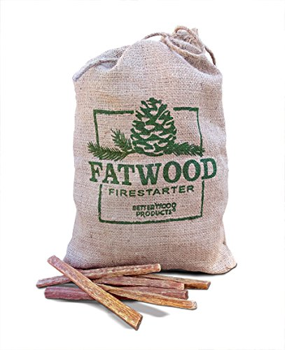 Wood Products 9908 Fatwood Burlap Bag, 8 Pounds (Fire Pit Flower)