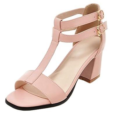 OYSOHE Frauen Rei/ßverschluss Spitze Partei Ankle Heels Casual Open Toe Mode Einzelne Schuhe