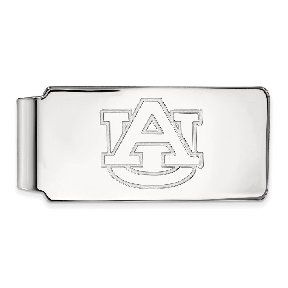 Jewel Tie 925 Sterling Silver Auburn University Money Clip 55mm x 26mm