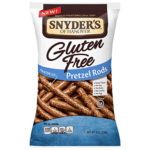 Snyder's of Hanover Pretzels, Gluten Free Rods, 8 Ounce (Pack of 12)