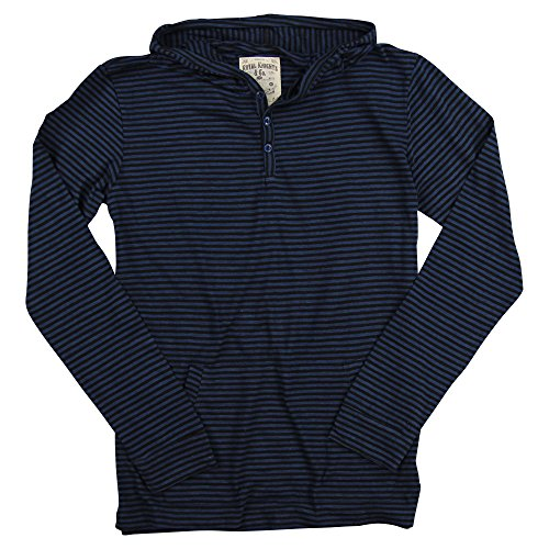 Blue Striped Hoodie Sweater - 4