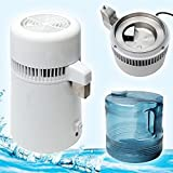 Zorvo Water Distiller Water Distillation Pure Water Distiller Filters Stainless Steel 4L 135 oz 750W Purifier Filter- Shipping From USA .3-5 days for delivery