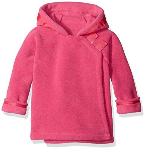 - Widgeon Little Girls Polar Tec Fleece Warm Plus Hooded Wrap Jacket with Velcro Close, Bright Pink, 4T